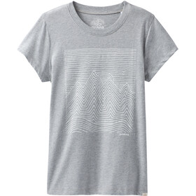 Prana Climbing Naiset Lyhythihainen paita , harmaa